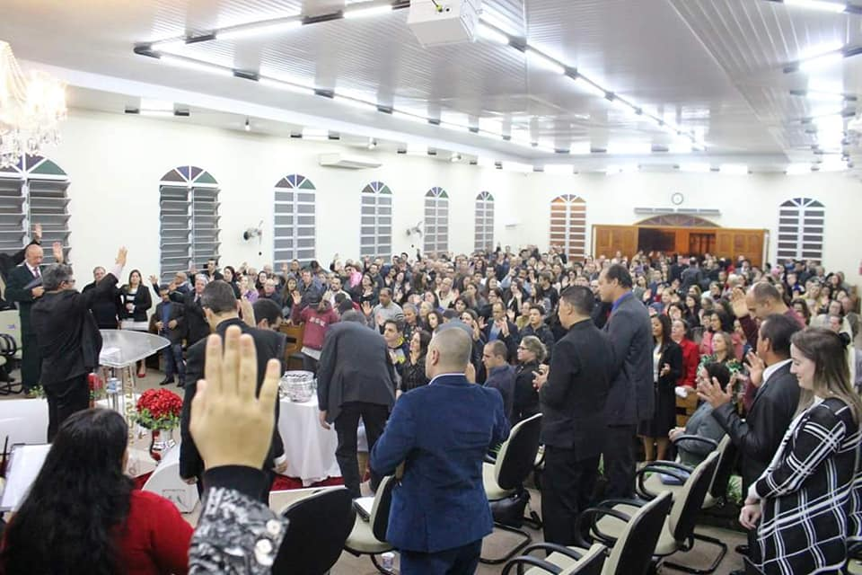 Pastor Joelson da Silva completa 7 anos na presidência da AD Cocal do Sul.