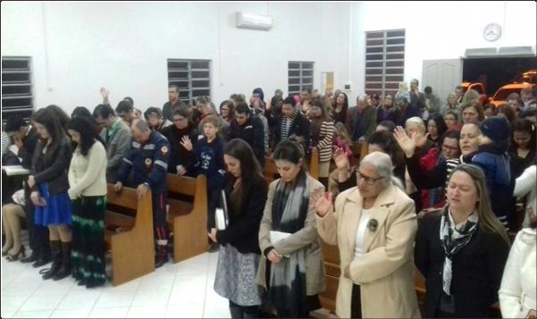 C.O.F. ALTAR DE LAGRIMAS PARTICIPA DO CULTO DA CAMPANHA