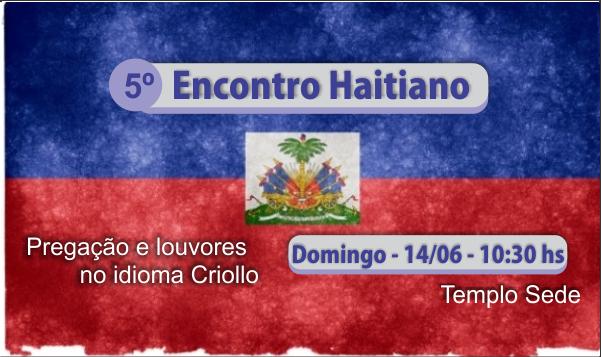 DOMINGO TEM CULTO HAITIANO