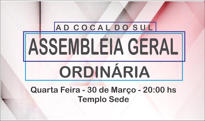 ASSEMBLEIA GERAL ORDINARIA