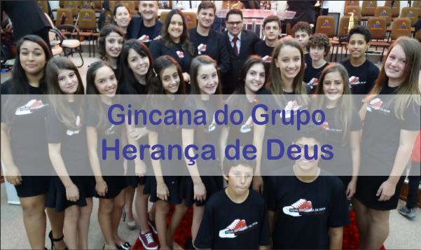 GINCANA DO GRUPO DE PRÉ-ADOLESCENTE HERANÇA DE DEUS