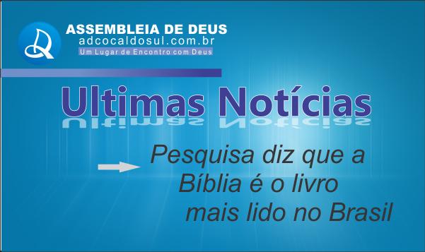 BÍBLIA É O LIVRO MAIS LIDO NO PAIS