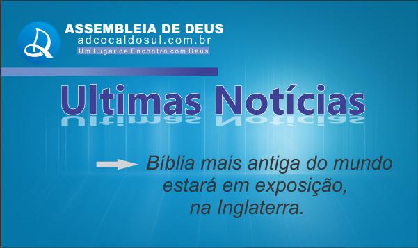 BÍBLIA MAIS ANTIGA ESTARÁ EM  EXPOSIÇÃO